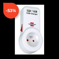 Zásuvka s vypínačem a USB výstupy Brennenstuhl 1508151 230V 16A