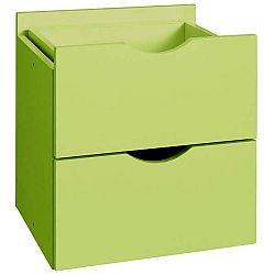 Zelená dvojitá zásuvka do regálu Støraa Kiera, 33x33cm