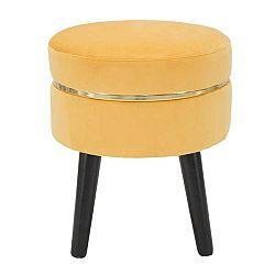 Žlutá polstrovaná stolička Mauro Ferretti Paris, ⌀ 35 cm